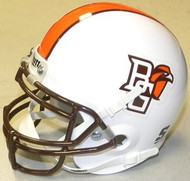 Bowling Green Falcons WHITE Schutt NCAA College Football Authentic Team Mini Helmet