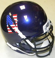 Northwestern Wildcats American Flag Logo Schutt NCAA College Football Authentic Team Mini Helmet