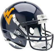West Virginia Mountaineers BLUE Schutt NCAA College Football Team Full Size Authentic XP Helmet