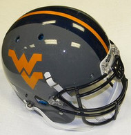 West Virginia Mountaineers GREY Schutt NCAA College Football Team Full Size Authentic XP Helmet