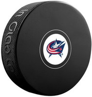 Columbus Blue Jackets NHL Team Logo Autograph Model Hockey Puck - Current Logo