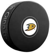 Anaheim Ducks NHL Team Logo Autograph Model Hockey Puck - Current Logo
