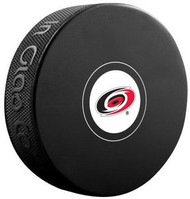 Carolina Hurricanes NHL Team Logo Autograph Model Hockey Puck - Current Logo