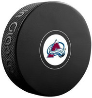 Colorado Avalanche NHL Team Logo Autograph Model Hockey Puck - Current Logo