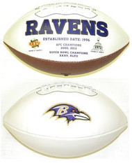 Baltimore Ravens Rawlings Jarden Sports Signature NFL Full Size Fotoball Football Current Version - BLOWN UP with BOX & PEN