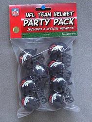 Denver Broncos NFL Football Riddell 8 Gumball Helmet Party Pack Set