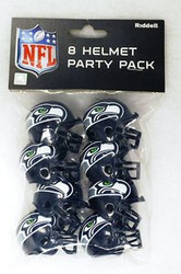 Denver Broncos NFL Football Riddell 8 Gumball Helmet Party Pack ...