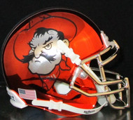 "Oklahoma State OSU Cowboys Schutt NCAA Mini Authentic Helmet Alternate Orange Chrome ""Pistol Pete"""