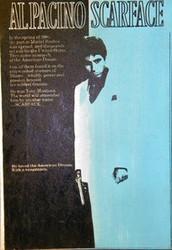 Al Pacino Scarface Tony Montana 22x32 Black Blue John Stango Original Abstract Art Acrylic On Canvas Painting