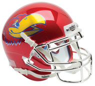 Kansas Jayhawks Schutt NCAA Mini Authentic Helmet Alternate RED CHROME