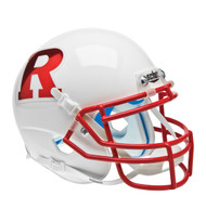Rutgers Scarlet Knights Schutt NCAA mini authentic helmet Alternate White w/Red Chrome logo and Red mask