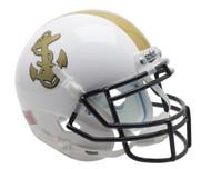 Navy Midshipmen Schutt NCAA Mini Authentic Helmet Alternate WHITE
