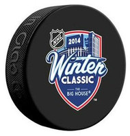 2014 NHL Winter Classic Event Logo Detroit Red Wings vs Toronto Maple Leafs Autograph Model Hockey Puck