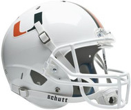 Miami Hurricanes White Schutt NCAA College Football Team Full Size Replica XP Helmet