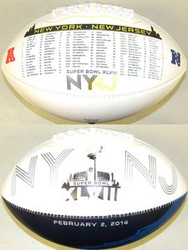 Road to the Super Bowl XLVIII 48 Fotoball Sports Signature NFL Full Size NY NJ Football