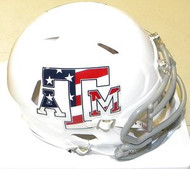 Texas A&M Aggies Stars and Stripes Riddell NCAA Replica Revolution SPEED Mini Helmet