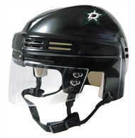 "Dallas Stars Black ""D"" Logo NHL Player Mini Hockey Helmet"