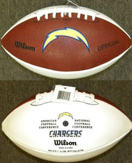 San Diego Chargers Official Wilson NFL Full Size Signature Model Football