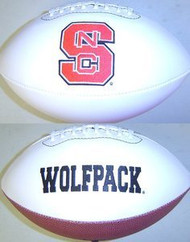 North Carolina State Wolf Pack Rawlings Jarden Sports Signature NCAA Full Size Fotoball Football - DEFLATED without Box/Pen