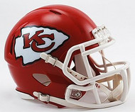 Kansas City Chiefs NFL Team Logo Riddell 3-Pack Revolution SPEED Mini Helmet Set