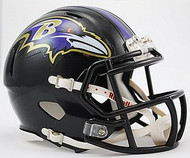 Baltimore Ravens NFL Team Logo Riddell 6-Pack Revolution SPEED Mini Helmet Set