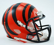 Cincinnati Bengals NFL Team Logo Riddell 6-Pack Revolution SPEED Mini Helmet Set