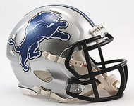Detroit Lions NFL Team Logo Riddell 6-Pack Revolution SPEED Mini Helmet Set
