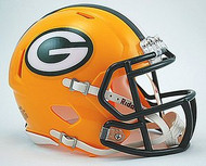 Green Bay Packers NFL Team Logo Riddell 6-Pack Revolution SPEED Mini Helmet Set