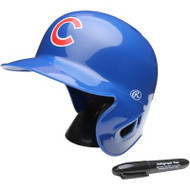 "Chicago Cubs Rawlings ""On Field"" Mini replica batting helmet"