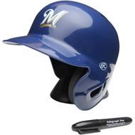 """Milwaukee Brewers Rawlings """"On Field"""" Mini replica batting helmet"""