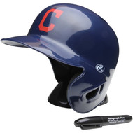 "Cleveland Indians Rawlings ""On Field"" Mini replica batting helmet"