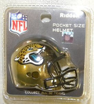 Jacksonville Jaguars NFL Riddell Pocket Pro Revolution Helmet