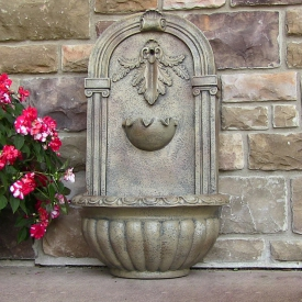 Resin & Fiberglass Outdoor Wall Fountains
