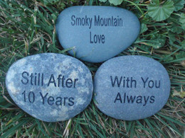 "Engraved 2-3"" Palm Sized Engraved Stones - Pack of 3"
