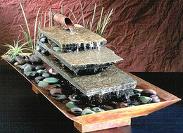Flowing River Copper Tabletop Fountain