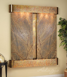 Rustic Copper and Rainforest Brown Marble