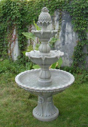 Sunnydaze Welcome 3-Tier Garden Fountain