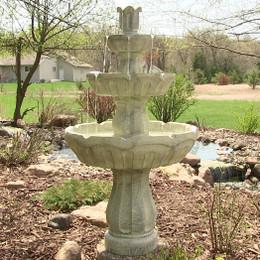 Sunnydaze Fluted 3-Tier Fountain