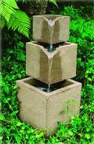 Cube Outdoor Stone Fountain