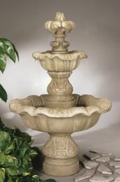Cast Stone Two Tier Renaissance Fountain by Henri Studio