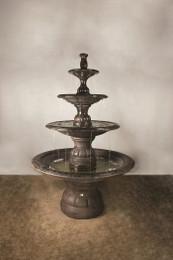 Henri Studio Cast Stone Grande Contemporary Four Tier Fountain