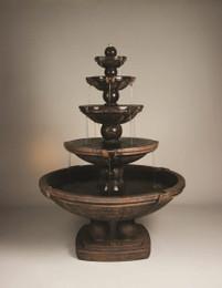 Henri Studio Cast Stone Spheres Five-Tier Fountain