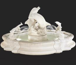 Cast Stone Grande Millennia Dolphin Fountain by Henri Studio