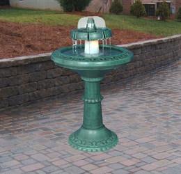 Decorative Lighted Fountain Birdbath