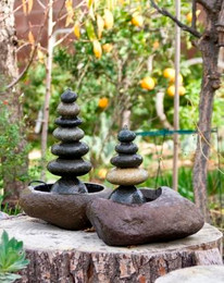 Rock Cairn Water Fountains