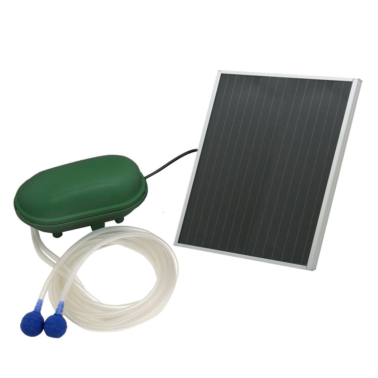 New solar outdoor pond fountain oxygenator plus air pump for Pond oxygenator
