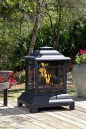 Rectangle Pagoda Patio Fireplace