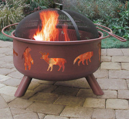 Big Sky Wildlife Fire Pit - Georgia Clay Color