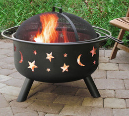Big Sky Stars & Moons Fire Pit - Black