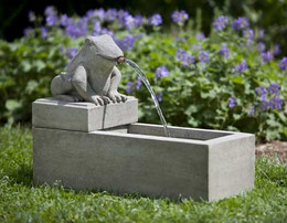 Campania International Frog Plinth Fountain (3 pc)